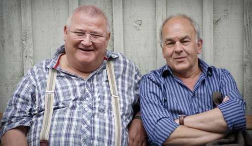 Horst Krause und Regisseur Bernd Böhlich